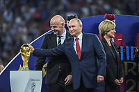 president Gianni Infantino, Russia's President Vladimir Putin during the World Cup Final match between France and Croatia at Luzhniki Stadium on July 15, 2018 in Moscow, Russia. (Photo by Anthony Dibon/Icon Sport)
