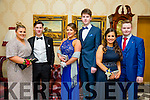 Chelsea Conway, Rory Forbes, Blathnaid O'Connor, Jonathan Meyers, Sarah Jane Kelly and Jordan Murphy at the CBS The Green Students' Debs Ball at the Ballyroe Heights Hotel on Saturday night