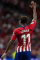 Thomas Lemar of Atletico Madrid during the match between Atletico Madrid v SD Huesca of LaLiga, 2018-2019 season, date 6. Wanda Metropolitano Stadium. Madrid, Spain - 25 September 2018. Mandatory credit: Ana Marcos / PRESSINPHOTO