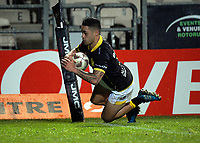Kemara Hauiti-Parapara scores a disallowed try during the Mitre 10 Cup rugby union match between Bay of Plenty and Wellington at Rotorua International Stadium in Rotorua, New Zealand on Thursday, 31 August 2017. Photo: Dave Lintott / lintottphoto.co.nz