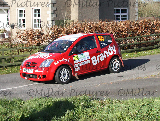Philip Hamilton - Damian Kelly in a Citroen C2 at Junction 11 on Special Stage 6 Bucks Head on the Discover Northern Ireland Circuit of Ireland Rally which was a constituent round of  the FIA European Rally Championship, the FIA Junior European Rally Championship, the Clonakilty Irish Tarmac Rally Championship, and the MSA ANICC Northern Ireland Stage Rally Championships which took place on 18.4.14 and 19.4.14 and was based in Belfast.