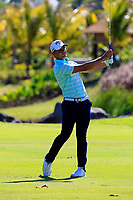Haydn Porteous (RSA) in action during the first round of the Afrasia Bank Mauritius Open played at Heritage Golf Club, Domaine Bel Ombre, Mauritius. 30/11/2017.<br /> Picture: Golffile | Phil Inglis<br /> <br /> <br /> All photo usage must carry mandatory copyright credit (&copy; Golffile | Phil Inglis)