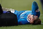 31.3.2018: Motherwell v Rangers: <br /> Josh Windass injured