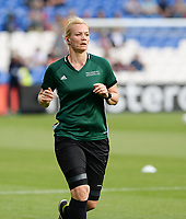20170601 - CARDIFF , WALES : German referee Bibiana Steinhaus pictured during a womensoccer match between the teams of  Olympique Lyonnais and PARIS SG, during the final of the Uefa Women Champions League 2016 - 2017 at the Cardiff City Stadium , Cardiff - Wales - United Kingdom , Thursday 1  June 2017 . PHOTO SPORTPIX.BE | DAVID CATRY