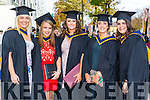 Bachelor of Science Health and Leisure Lauren Molly, Sheena Murphy, Aisling Barry, Niamh Kinsella, Elaina Fusciardi at the Institute of Technology Tralee Autumn Conferring of Awards Ceremony at the Brandon Hotel on Friday