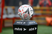 Match ball ahead of Woking vs Watford, Emirates FA Cup Football at The Laithwaite Community Stadium on 6th January 2019