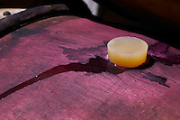 silicone bung on barrel dom rossignol trapet gevrey-chambertin cote de nuits burgundy france