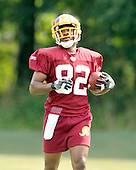 Ashburn, VA - August 6, 2009 -- Wide receiver / punt returner Antwaan Randle-El (82) runs with the ball after making a catch during the 2009 Washington Redskins Training Camp at Redskins Park in Ashburn, Virginia on Thursday, August 6, 2009..Credit: Ron Sachs / CNP
