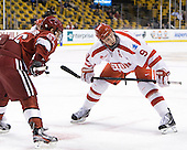 Luke Greiner (Harvard - 26), Alex Chiasson (BU - 9) - The Boston University Terriers defeated the Harvard University Crimson 3-1 in the opening round of the 2012 Beanpot on Monday, February 6, 2012, at TD Garden in Boston, Massachusetts.