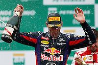 SAO PAULO, SP, 24.11.2013 - F1 GP BRASIL - O piloto australiano Mark Webber da equipe Red Bull apos Grande Prêmio do Brasil de Fórmula 1, no autódromo de Interlagos, zona sul da capital paulista, neste domingo (24). (Foto: Pixathlon / Brazil Photo Press).