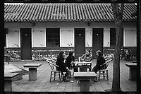 Chinese women enjoy tea at a teahouse at Wenshu Yuan, or God of Wisdom Temple, in Chengdu, capital city of the southwestern province of Sichuan, in March, 2011.