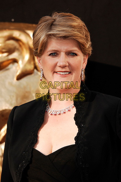 Clare Balding.Arrivals at the Arqiva British Academy Television Awards held at the Royal Festival Hall, London, England..May 27th, 2012.BAFTA BAFTAS headshot portrait black.CAP/WIZ.© Wizard/Capital Pictures.