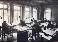 BNPS.co.uk (01202 558833)<br /> Pic: NationalTrust/BNPS<br /> <br /> Top Secret  - The map making room at Hughenden Manor during the war.<br /> <br /> Secret rooms at a stately home where brilliant map-makers played a pivotal role in helping Britain to win the war have been opened to the public for the first time.<br /> <br /> Hughenden Manor, in Bucks, once home to the Victorian prime minster Benjamin Disraeli, was requisitioned by the Air Ministry in 1941 and given the codename 'Hillside'.<br /> <br /> In its confines, more than 3,500 hand drawn maps were produced for the RAF bombing campaigns, including the legendary Dambusters Raid and a raid on the Berchtesgaden, Hitler's famous mountain retreat.<br /> <br /> Previously hidden away under lock and key, these rooms have been opened for the first time for a permanent display featuring photographs, records and testimonies from some of the 100 men and women who were based there in World War Two.<br /> <br /> Since they were sworn to silence under the Official Secrets Act, Hillside's crucial wartime role in fact remained unknown until 2004, when a volunteer room guide overheard Victor Gregory, a visitor to the National Trust property, tell his grandson that he was stationed there during the war.
