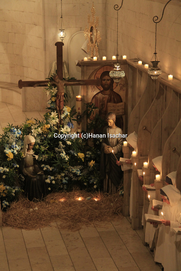 Israel, Christmas at the Monastery of the Sisters of Bethlehem of the Assumption of the Virgin and of Saint Bruno in Bet Gemal