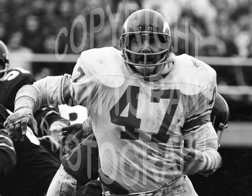Fred James Calgary Stampeders 1972 Copyright photograph Scott Grant/