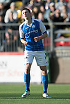 FK Trakai v St Johnstone…06.07.17… Europa League 1st Qualifying Round 2nd Leg, Vilnius, Lithuania.<br />Blair Alston reacts after mssing a free kick<br />Picture by Graeme Hart.<br />Copyright Perthshire Picture Agency<br />Tel: 01738 623350  Mobile: 07990 594431