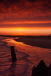 Sunset at Walberswick in Suffolk England