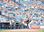 Masahiro Tanaka (Yankees),<br /> MARCH 25, 2015 - MLB :<br /> Masahiro Tanaka of the New York Yankees touches the pitcher's plate before delivering the first pitch in the first inning during a spring training baseball game against the New York Mets at George M. Steinbrenner Field in Tampa, Florida, United States. (Photo by AFLO)
