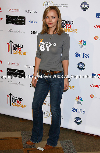 HOLLYWOOD, CA. - September 05: Actress Christina Ricci arrives at Stand Up For Cancer at The Kodak Theatre on September 5, 2008 in Hollywood, California.