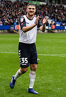 Bolton Wanderers' Sonny Graham acknowledges the applause from the crowd at the end of the match<br /> <br /> Photographer Andrew Kearns/CameraSport<br /> <br /> The EFL Sky Bet Championship - Bolton Wanderers v Coventry City - Saturday 10th August 2019 - University of Bolton Stadium - Bolton<br /> <br /> World Copyright © 2019 CameraSport. All rights reserved. 43 Linden Ave. Countesthorpe. Leicester. England. LE8 5PG - Tel: +44 (0) 116 277 4147 - admin@camerasport.com - www.camerasport.com