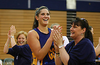Otago's Te Paea Selby-Rickit celebrates winning the Lion Foundation Netball Championship final match, day five, MoreFM Arena, Dunedin, New Zealand, Friday, October 04, 2013. Credit: Dianne Manson/©MBPHOTO /Michael Bradley Photography.