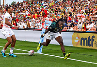Action from the 2018 HSBC World Sevens Series Hamilton pool match between South Africa and England at FMG Stadium in Hamilton, New Zealand on Saturday, 3 February 2018. Photo: Kerry Marshall / lintottphoto.co.nz