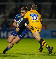 8th November 2019; AJ Bell Stadium, Salford, Lancashire, England; English Premiership Rugby, Sale Sharks versus Coventry Wasps; Cameron Redpath of Sale Sharks is tackled by Jimmy Gopperth of Wasps - Editorial Use