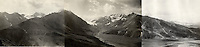 August 22, 1919, Panorama of the East Fork Toklat River and Glacier in Denali National Park, Alaska by U.S. Geological Survey Geologist Steven Reid Capps.  Image is composed of three individual photographs that were digitally stitched together by Ron Karpilo.  The original images are U.S. Geological Survey S.R. Capps Collection images # 930, 931, and 932.