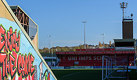 A general view of Sincil Bank, home of Lincoln City FC<br /> <br /> Photographer Chris Vaughan/CameraSport<br /> <br /> Emirates FA Cup First Round - Lincoln City v Northampton Town - Saturday 10th November 2018 - Sincil Bank - Lincoln<br />  <br /> World Copyright © 2018 CameraSport. All rights reserved. 43 Linden Ave. Countesthorpe. Leicester. England. LE8 5PG - Tel: +44 (0) 116 277 4147 - admin@camerasport.com - www.camerasport.com