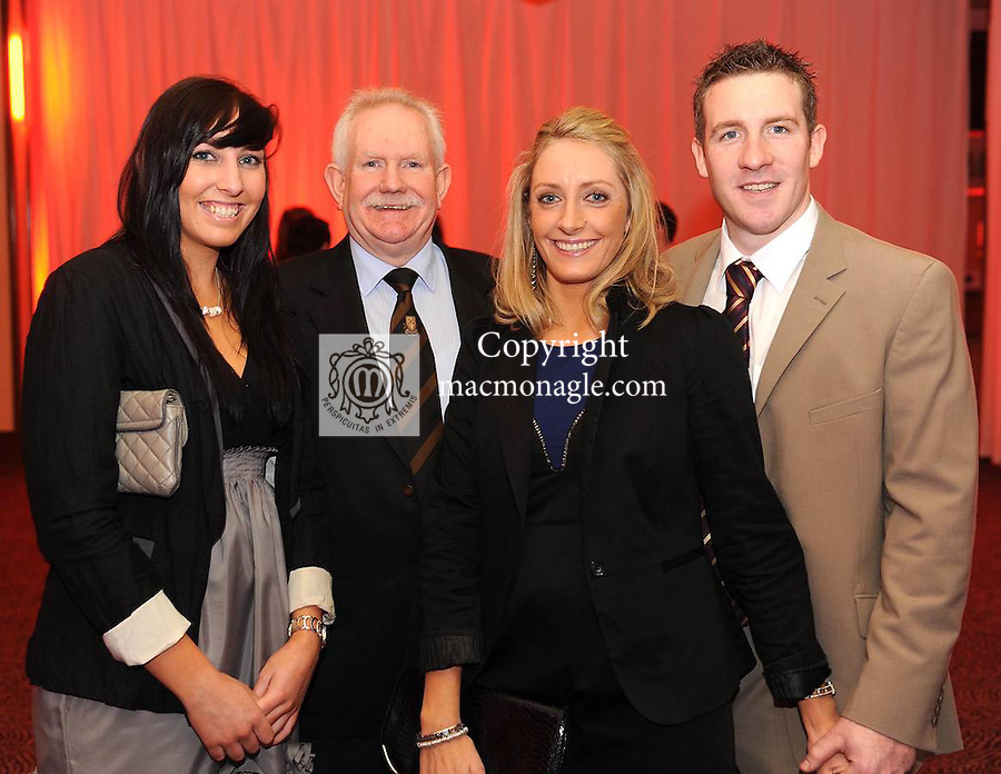 Aideen Hickey, Pat Kenneally, Katie Hickey and Andrew Kenneally at  the Dr Crokes GAA Club Victory Celebration Night at the Inec, Killarney on Friday night. Picture: Eamonn Keogh (MacMonagle, Killarney)