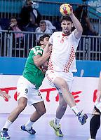 Algeria's Abdelkader Rahim (l) and Croatia's Marko Kopljar during 23rd Men's Handball World Championship preliminary round match.January 14,2013. (ALTERPHOTOS/Acero) 7NortePhoto