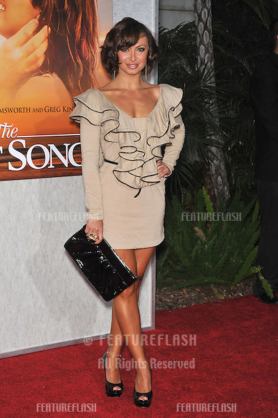 "Karina Smirnoff at the world premiere of ""The Last Song"" at the Arclight Theatre, Hollywood..March 25, 2010  Los Angeles, CA.Picture: Paul Smith / Featureflash"