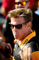 Sept. 6, 2010; Clermont, IN, USA; Automotive artist Chip Foose during driver introductions prior to the U.S. Nationals at O'Reilly Raceway Park at Indianapolis. Mandatory Credit: Mark J. Rebilas-