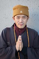 Buddhist Monk, Steampunk Steamposium 2017, Seattle, WA, USA.