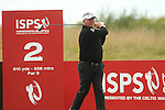 Darren Clark drives at the 2nd during the second round of the ISPS Handa Wales Open 2013 at the Celtic Manor Resort<br /> <br /> 30.08.13<br /> <br /> &copy;Steve Pope-Sportingwales
