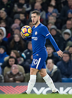 Eden Hazard of Chelsea during the Premier League match between Chelsea and West Bromwich Albion at Stamford Bridge, London, England on 12 February 2018. Photo by Andy Rowland.