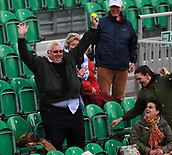 June 12th 2017,  Nottingham, England; WTA Aegon Nottingham Open Tennis Tournament day 1; A fan celebrates catching a ball hit into the crowd by Julia Boserup