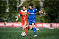Seattle, Washington - Sunday, June 12, 2016: Seattle Reign FC midfielder Keelin Winters (11) maintains possession during a regular season National Women's Soccer League (NWSL) match at Memorial Stadium. Seattle won 1-0.
