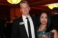 NWA Democrat-Gazette/CARIN SCHOPPMEYER Tim Gossett and Mayumi Nakamura attend O' Night Divine.