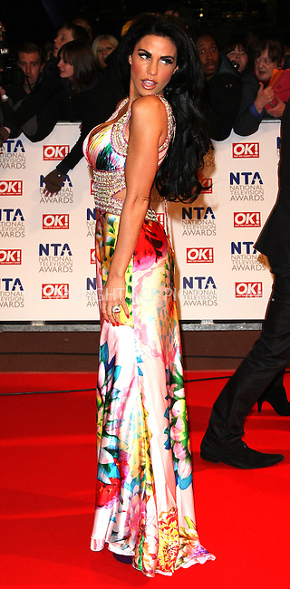 WWW.ACEPIXS.COM . . . . .  ..... . . . . US SALES ONLY . . . . .....January 20 2010, London....Katie Price aka Jordan at the National Television Awards at the O2 Arena on January 20 2010 in London....Please byline: FAMOUS-ACE PICTURES... . . . .  ....Ace Pictures, Inc:  ..tel: (212) 243 8787 or (646) 769 0430..e-mail: info@acepixs.com..web: http://www.acepixs.com