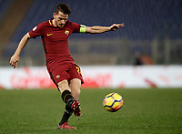 Calcio, Serie A: AS Roma - Atalanta, Roma, stadio Olimpico, 6 gennaio 2018.<br /> AS Roma's captain Alessandro Florenzi in action during the Italian Serie A football match between AS Roma and Atalanta at Rome's Olympic stadium, January 6 2018.<br /> UPDATE IMAGES PRESS/Isabella Bonotto