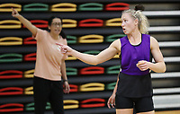 09.10.2018 Silver Ferns Laura Langman during training in  Townsville. Mandatory Photo Credit ©Michael Bradley.