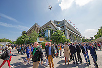 Paris, France, 25 June, 2016, Tennis, Roland Garros,  ambiance court Central Philippe Chatrier<br /> Photo: Henk Koster/tennisimages.com