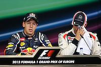 23.06.2012. Valencia, Spain. FIA Formula One World Championship 2012 Grand Prix of Europe Qualifying Session. Sevastian Vettel (German driver of Red Bull).