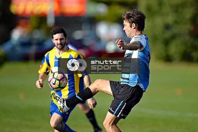 NELSON, NEW ZEALAND - JUNE 10: Sprig & Fern Tahuna 2nd v Golden Bay, Nelson College, June 10, 2017, Nelson, New Zealand. (Photo by: Barry Whitnall Shuttersport Limited)