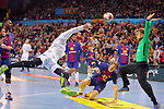 VELUX EHF 2017/18 EHF Men's Champions League Last 16.<br /> FC Barcelona Lassa vs Montpellier HB: 30-28.<br /> Ludovic Fabregas vs Perez de Vargas.