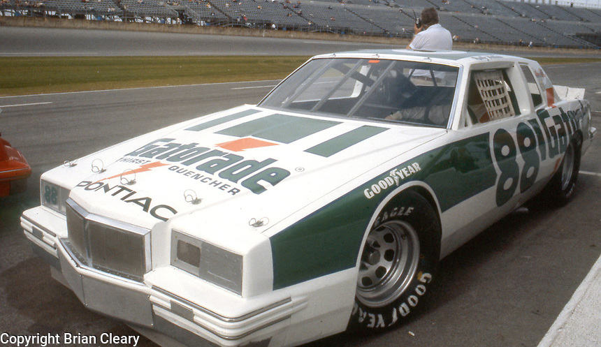 Rusty Wallace's car in pits before Daytona 500 at Daytona International Speedway in Daytona Beach, FL on February  1984. (Photo by Brian Cleary/www.bcpix.com)