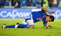 BOGOTA, COLOMBIA - MARCH 03: David Silva of Millonarios reacts after losing a goal against Independiente Santa Fe during the match between Millonarios and Independiente Santa Fe as part of the Liga BetPlay at Estadio El Campin on March 3, 2020 in Bogota, Colombia. (Photo by John W. Vizcaino/VIEW press/Getty Images)