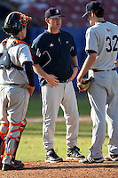 March 14, 2010:  Coach Scott Heather of Bucknell University Bisons vs. UMBC in a game at Chain of Lakes Stadium in Winter Haven, FL.  Photo By Mike Janes/Four Seam Images