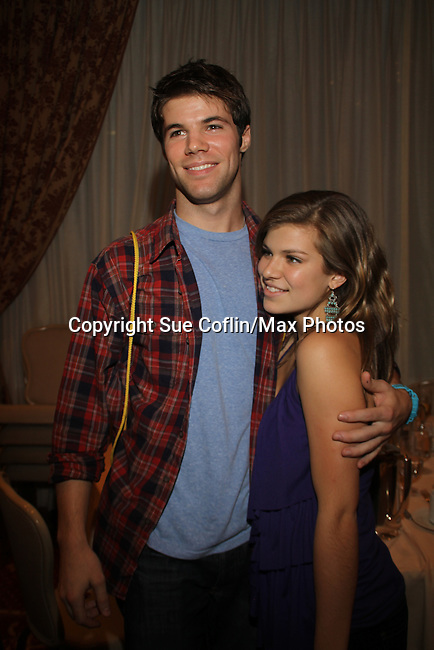 Nic Robuck, Kelley Missal at The One Life To Live Lucheon at the Hemsley Hotel in New York City, New York on October 9, 2010. (Photo by Sue Coflin/Max Photos)
